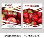 vector brochure design template ...   Shutterstock .eps vector #407569576