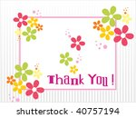 colorful blossom with thank you ... | Shutterstock .eps vector #40757194