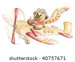 bear in plane | Shutterstock . vector #40757671