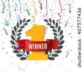 winner  number one background... | Shutterstock .eps vector #407577436