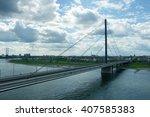 bridge in dusseldorf | Shutterstock . vector #407585383