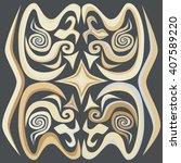 decorative ornament.... | Shutterstock .eps vector #407589220