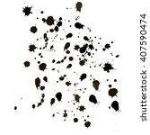black splashes   | Shutterstock .eps vector #407590474