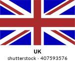vector image of flag uk | Shutterstock .eps vector #407593576