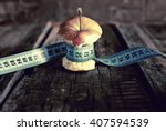 anorexia thinness measuring... | Shutterstock . vector #407594539