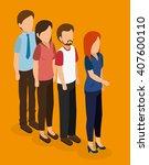 business people isometrics ... | Shutterstock .eps vector #407600110