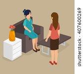 business people isometrics ... | Shutterstock .eps vector #407600269