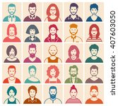 people icon set   Shutterstock .eps vector #407603050