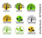 modern vector gardening... | Shutterstock .eps vector #407606614