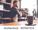 Morning Coffee. Focused Pictur...