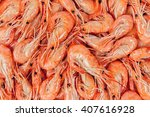 Close Up Of Boiled Shrimps As ...
