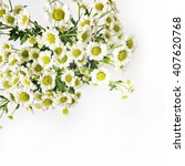 chamomile bouquet on white...