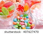 variety of colorful candies | Shutterstock . vector #407627470