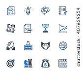business management icons set 4 ...   Shutterstock .eps vector #407629354
