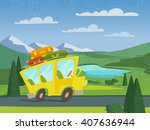 summer vector nature landscape... | Shutterstock .eps vector #407636944