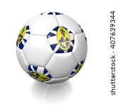 3d Rendering Of A Football...