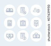 bookkeeping line icons  finance ... | Shutterstock .eps vector #407639950