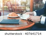 close up image of coffee break... | Shutterstock . vector #407641714
