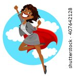dark skinned business woman...   Shutterstock . vector #407642128