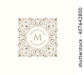 monogram for cards  invitations ... | Shutterstock .eps vector #407642800