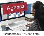 agenda appointment goals... | Shutterstock . vector #407645788