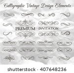 ornate frame elements. vintage... | Shutterstock .eps vector #407648236