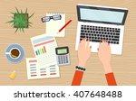 workplace freelancer economist. ... | Shutterstock .eps vector #407648488