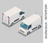 isometric  car  front end rear... | Shutterstock .eps vector #407649184