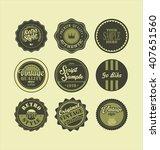 vintage labels black and green... | Shutterstock .eps vector #407651560