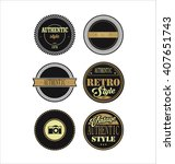 vintage labels black and brown... | Shutterstock .eps vector #407651743