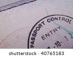 a passport control stamp in a... | Shutterstock . vector #40765183