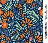 the original flower floral... | Shutterstock . vector #407653903