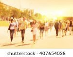 abstract blurred image of... | Shutterstock . vector #407654038