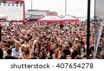 view from stage of vans warped... | Shutterstock . vector #407654278