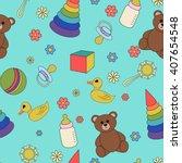 cartoon illustration children ... | Shutterstock .eps vector #407654548