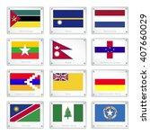 flags of mozambique  nauru ... | Shutterstock .eps vector #407660029