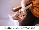 old people in geriatric hospice ... | Shutterstock . vector #407660560