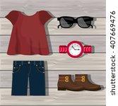 feminine fashion design  | Shutterstock .eps vector #407669476