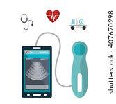 health technology design  | Shutterstock .eps vector #407670298