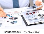 close up of businessman... | Shutterstock . vector #407673169
