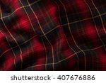 Fabric  Scottish Cage. Texture...