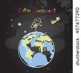confident child  girl  happy... | Shutterstock .eps vector #407677390