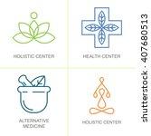 alternative medicine logos.... | Shutterstock .eps vector #407680513