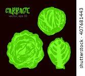 sketched vegetable illustration ... | Shutterstock .eps vector #407681443