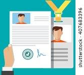 vector flat illustration badge   Shutterstock .eps vector #407683396