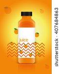 juice packaging vector... | Shutterstock .eps vector #407684863