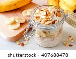 overnight oats with bananas and ...