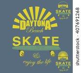 skate board typography  t shirt ... | Shutterstock .eps vector #407691268