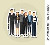 businesspeople graphic design   ... | Shutterstock .eps vector #407695000