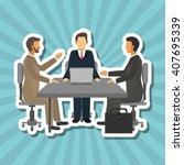 businesspeople graphic design   ... | Shutterstock .eps vector #407695339